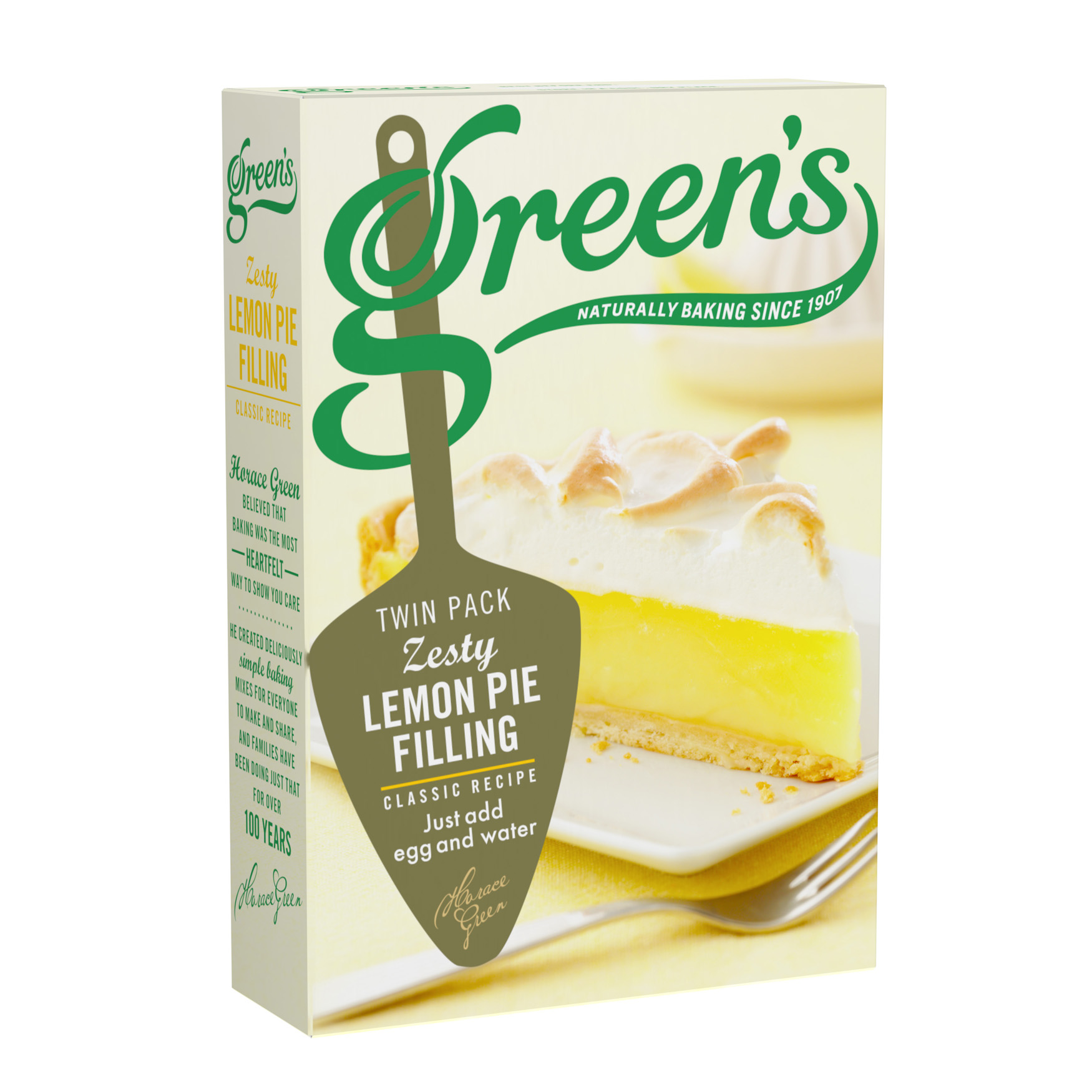 Lemon Pie Filling Mix Packaging Front