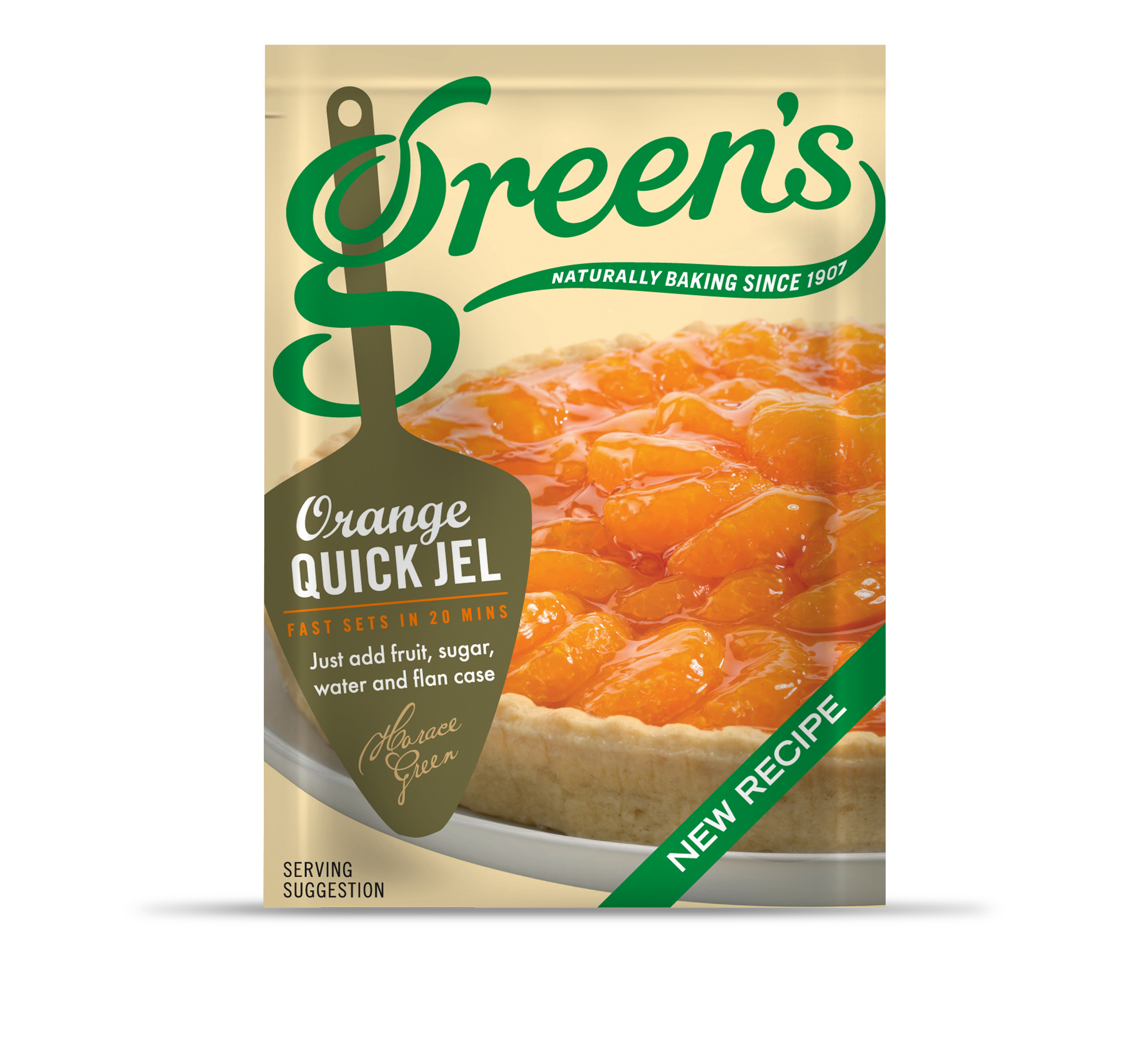 Greens Orange Quick Jel new recipe