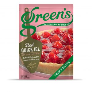 Greens Red Quick Jel new recipe