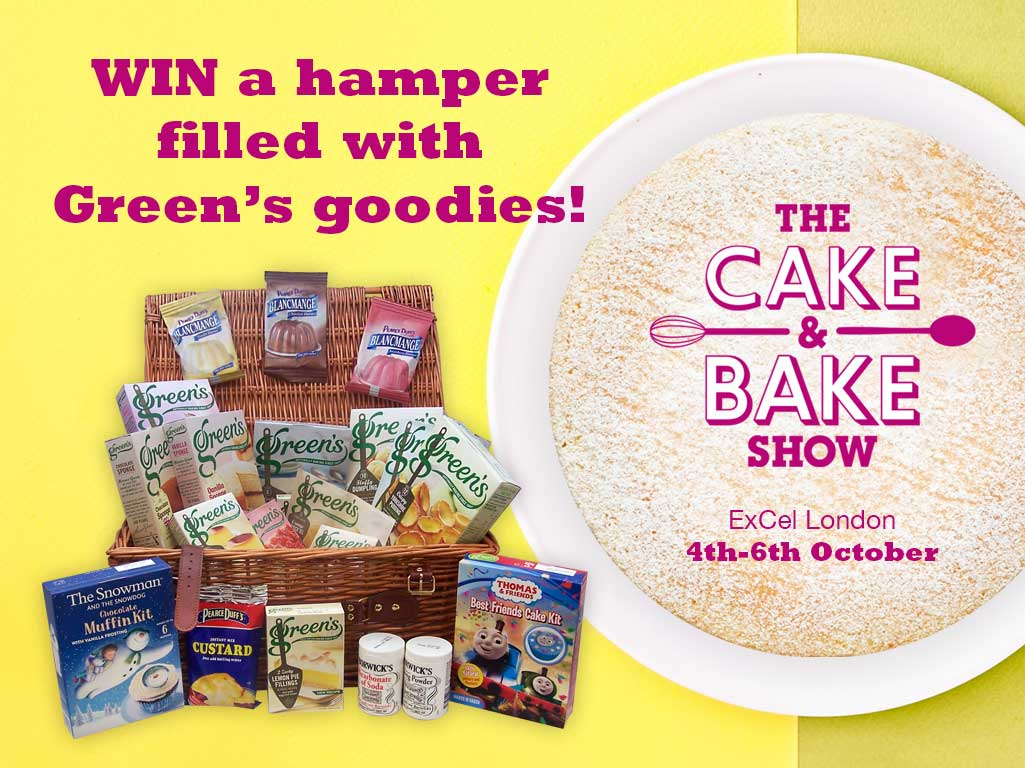 Come and visit us at The Cake & Bake Show for a chance to win!