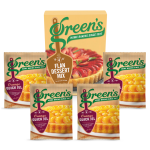 Green's Pearce Duff's Borwick's Summer Flan Deal With Orange Quick Jel Desserts Cake Mix Time Savers